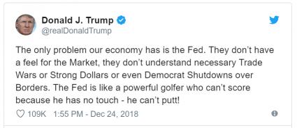 Donald Trump critica o Federal Reserve