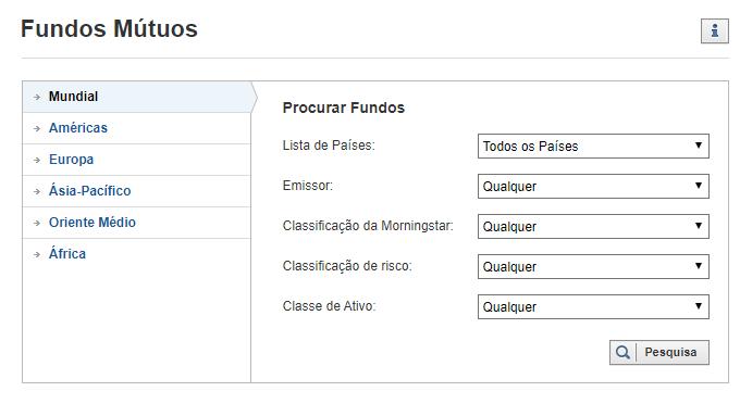 Fundos Mútuos de Investimento no Investing.com
