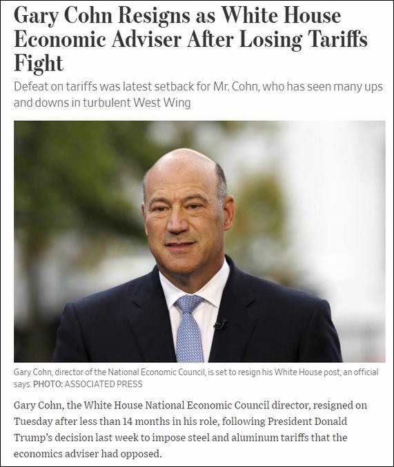 Gary Cohn renuncia